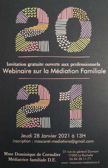 webinaire sur la médiation familiale